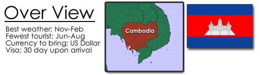 Cambodian map and flag